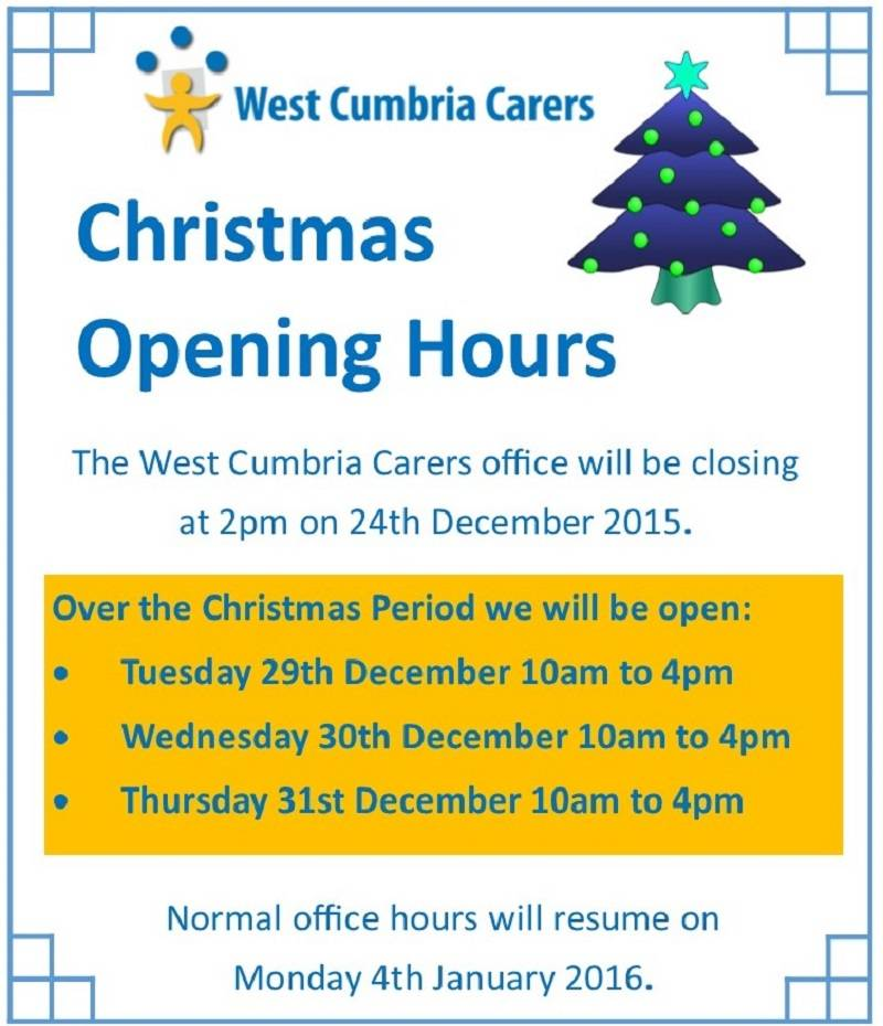 Christmas Office Opening Times