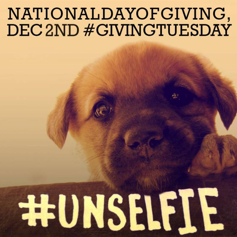 Giving Tuesday - Be #Unselfie