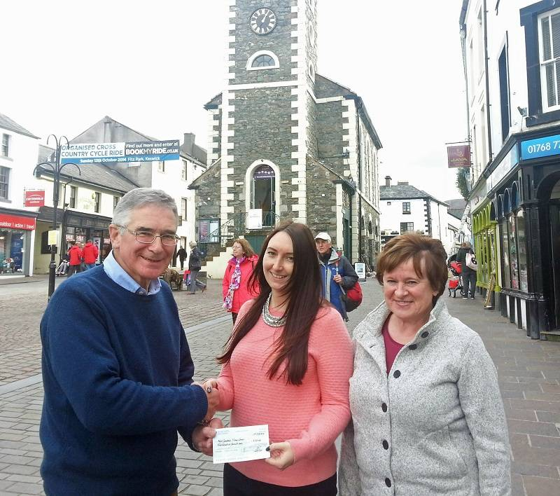 Young Carers Project receive generous donation from Keswick Rotary Club